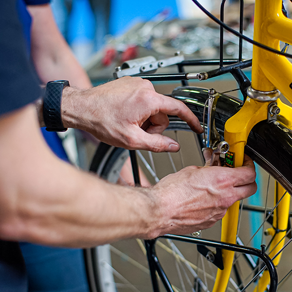 reparatie fiets close-up